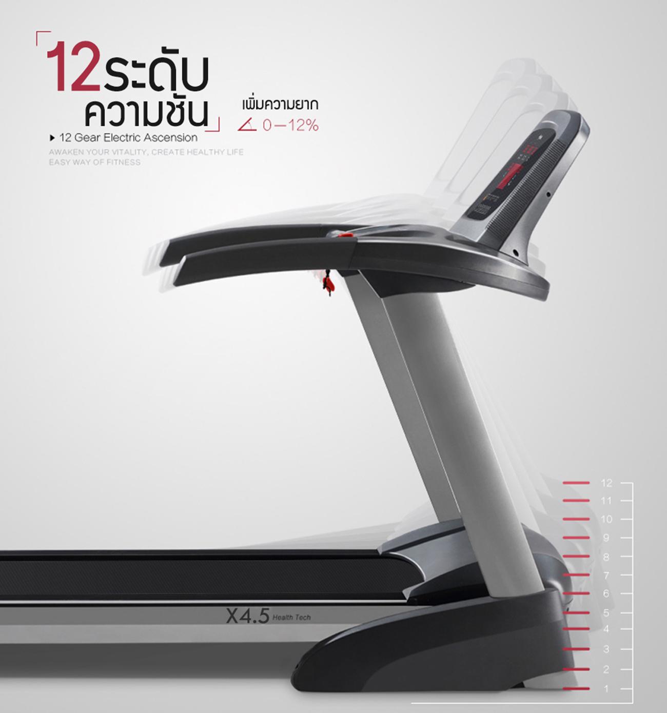 ลู่วิ่งไฟฟ้า X4.5 Motorized Treadmill - 4.0 HP motor