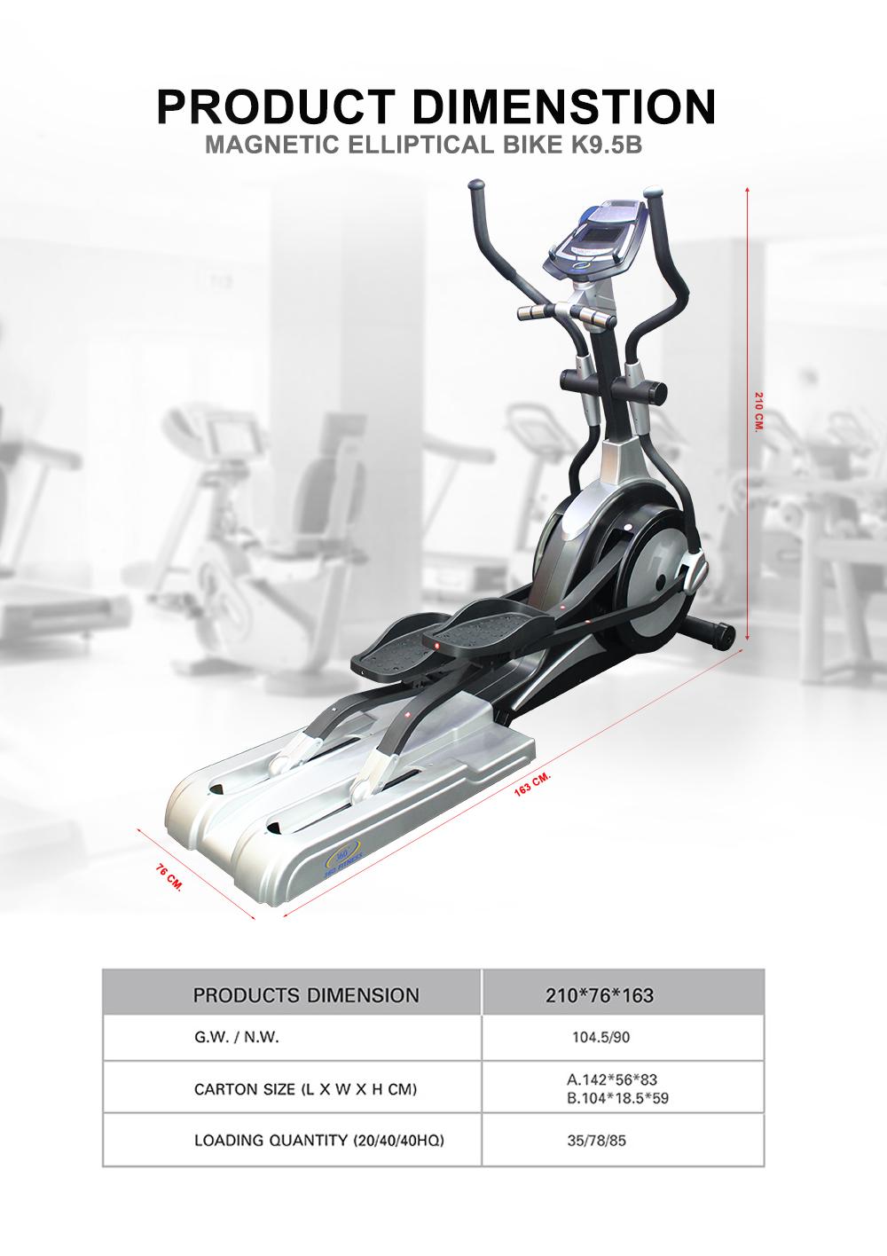 Magnetic Elliptical bike K9.5B
