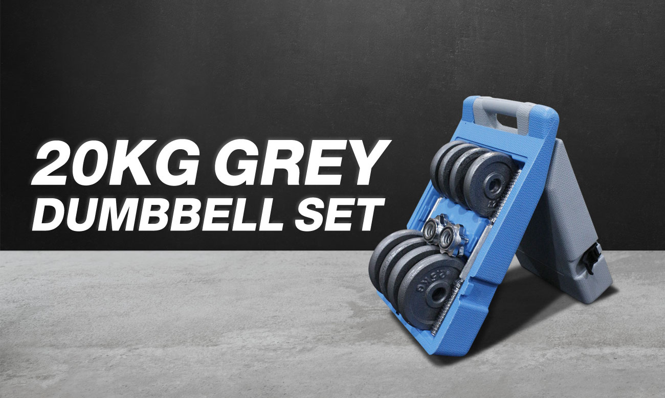 20KG Grey Dumbbell Set