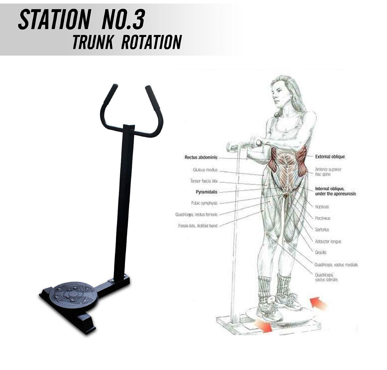 อุปกรณ์ฝึกกล้ามเนื้อ 5 สถานี JH-D05
