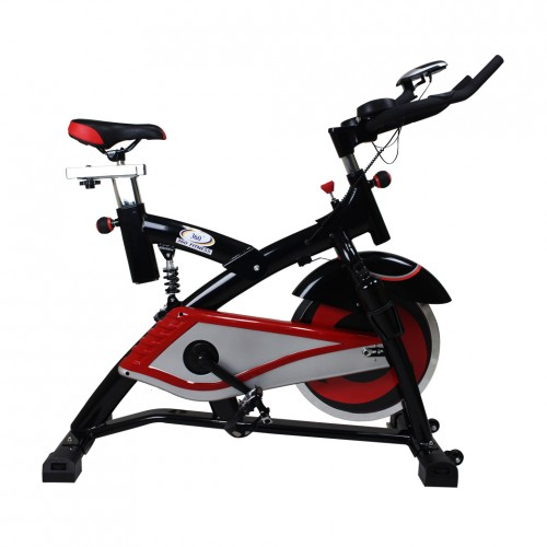 จักรยานปั่นออกกำลังกาย Spin Bike 18KG. รุ่น AM-S2000T สีดำ/แดง